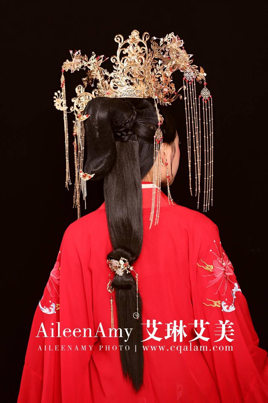 教学课堂唐妆造型赏析-重庆艾琳艾美化妆培训学校