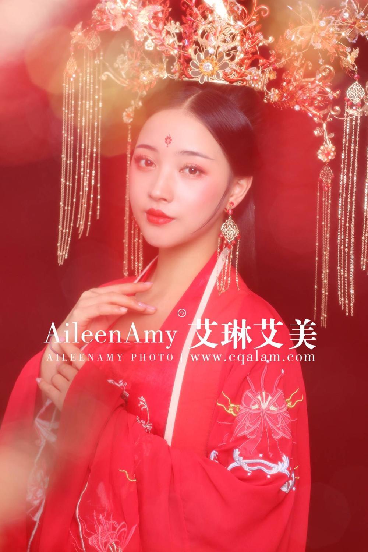 教學課堂唐妝造型賞析-重慶艾琳艾美化妝培訓學校